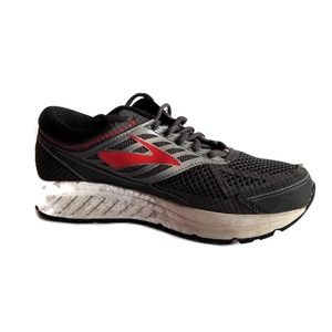 Brooks Addiction 13 men running shoes gray and red